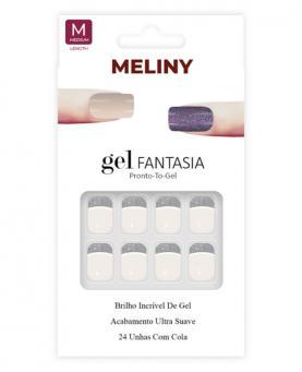 Meliny Unha Postiça Gel Fantasia Brilho de Gel - 15276-09