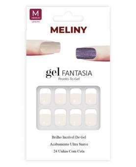 Meliny Unha Postiça Gel Fantasia Brilho de Gel - 15276-11