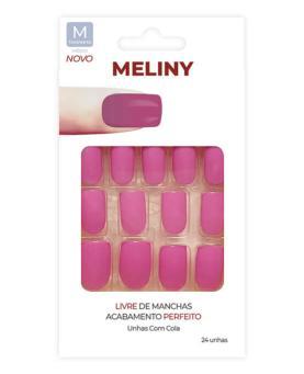 Meliny Unhas Postiças com Cola Tamanho M - 52756-04