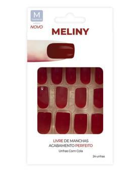 Meliny Unhas Postiças com Cola Tamanho M - 52756-06