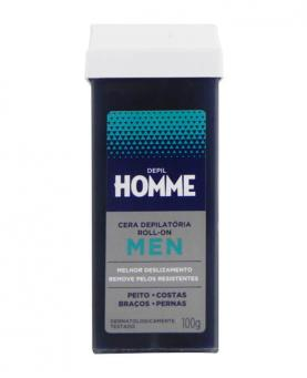 Depil Bella Homme Cera Roll-on Masculina 100g - 8173