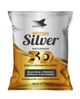 Alise Hair Máscara Matizadora Silver 3D 50ml - 8378