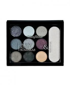 Ruby Rose Kit Sombras Smoky - HB1037