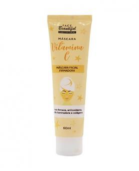 Face Beautiful Máscara Facial Firmadora Vitamina C Bisnaga 60ml - 60011