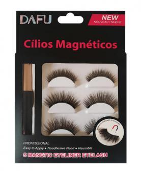 Dafu Cílios Postiços Magnéticos 3 Pares + Delineador + Aplicador - 24782
