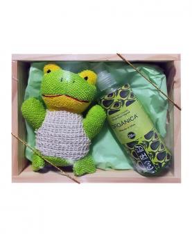 Orgânica Kit Banho com Caixa Interativa Toys + Esponja Sisal + Sabonete Líquido 250ml - 21064