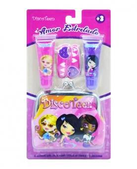 Discoteen Kit de Maquiagem Amor Estrelado com 05 Peças - 98348