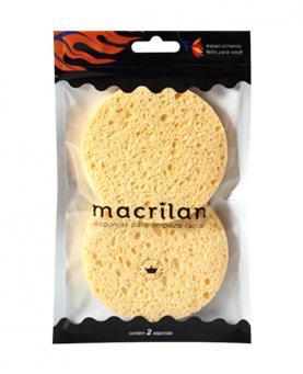Macrilan Esponja para Limpeza Facial com 02 unidades - EP11