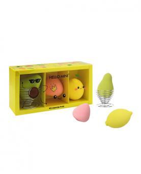 Hello Mini Kit Esponja Fruta com Porta Esponja - KIT301