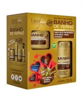 Forever Liss Kit Banho de Verniz Shampoo 300ml + Máscara 250g - 38601
