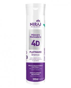 Niraj Máscara Matizadora Platinado Branco 4d 300ml - 6278