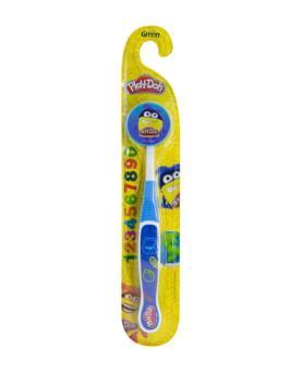 Green Escova Dental Infantil Macia Play-Doh com Protetor de Cerdas - IN115