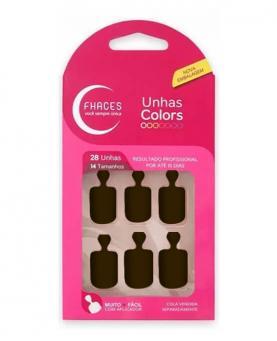 Fhaces Unhas Colors Marrom Escuro - U3055
