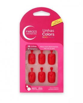 Fhaces Unhas Colors Vermelha - U3054