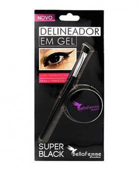Bella Femme Delineador em Gel Super Black - BF10054