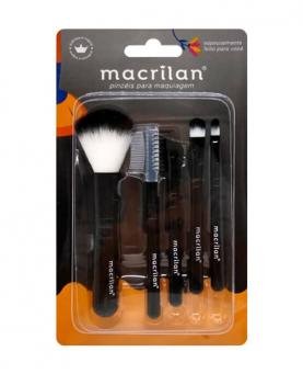 Macrilan Kit Pincéis Make com 5 unidades - KP518