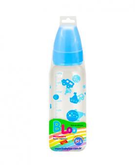 Baby Loo Mamadeira Azul Bico Redondo PVC 240ml - 85