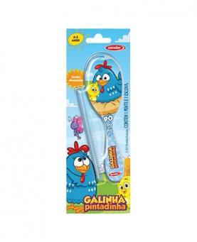 Condor Baby Galinha Pintadinha Kit Escova de Cabelo + Pente - 86554