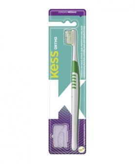 Kess Escova Dental Ortodôntica com Protetor - 1992