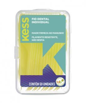 Kess Fio Dental Individual Encerado com 50 unidades - 2002