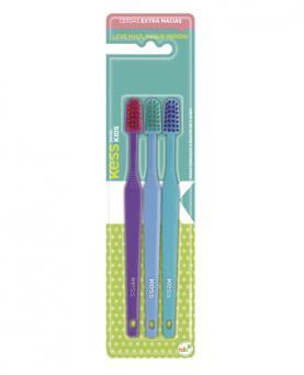 0aa762394 Kess Escova Dental Kids Basic cerdas Macias com 3 unidades - 2581