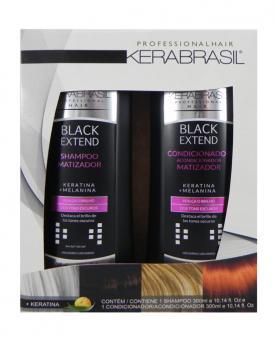 Kera Brasil Black Extend Kit Matizador Shampoo + Condicionador 300ml - 22852