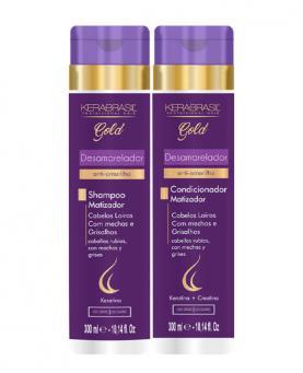 Kera Brasil Desamarelador Kit Shampoo + Condicionador 300ml - 23017