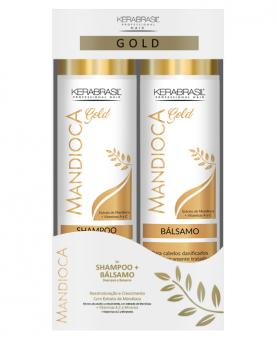Kera Brasil Mandioca Kit Gold Shampoo + Condicionador 300ml - 44476