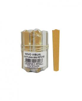 Novo Visual Lixa Mini Pop Amarela com 100 unidades - 0067