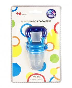 Pais e Filhos Alimentador de Silicone Azul - 7841