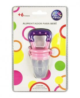 Pais e Filhos Alimentador de Silicone Rosa - 7840
