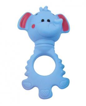 Pais e Filhos Mordedor e Chocalho Elefantinho Azul e Rosa - 7725